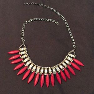 Jewelry - Red Long Bead Necklace